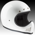 Motocross helmet, historic design, white