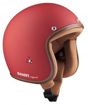 Jet helmet Premium dull red