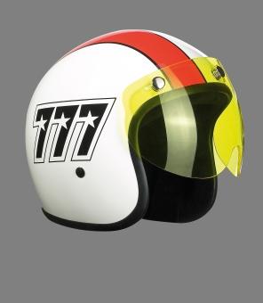Visor for Jet helmet, short yellow