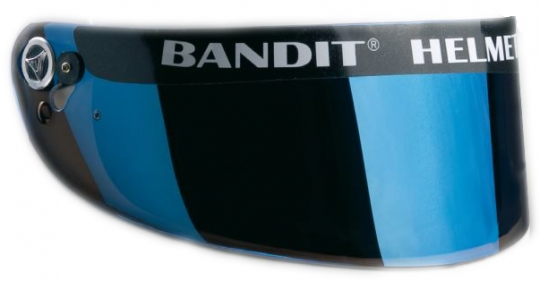 SNELL/SA Visor blue mirrored
