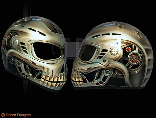 bandit helmets airbrush design online kaufen. Black Bedroom Furniture Sets. Home Design Ideas